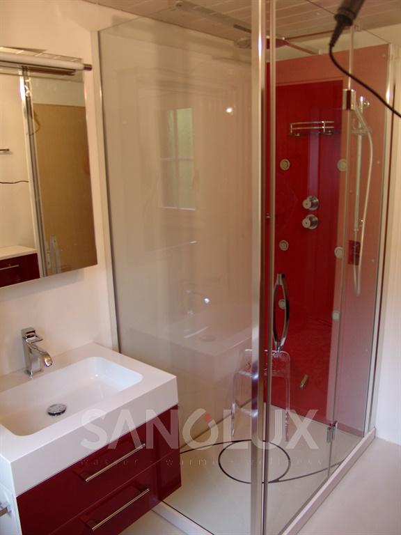 dampfduschen dampf duschkabinen dampfdusche dampfkabine sanolux gmbh. Black Bedroom Furniture Sets. Home Design Ideas