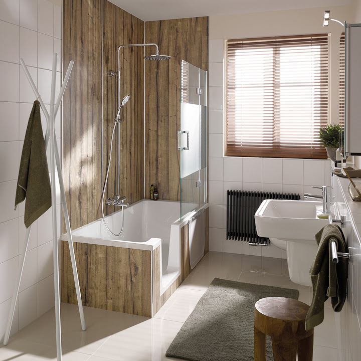 badewannen mit t r duschen in der badewanne sanolux gmbh. Black Bedroom Furniture Sets. Home Design Ideas